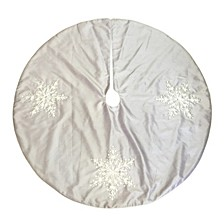 "42"" Tree Skirt with Snowflakes Design"