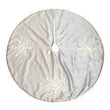 "National Tree Company 42"" Tree Skirt with Snowflakes Design"