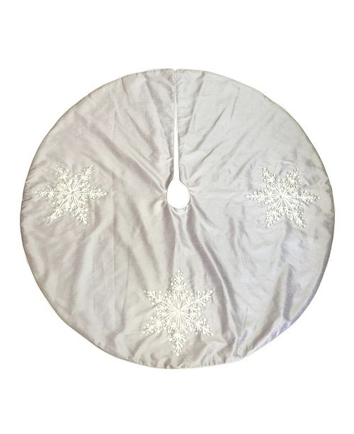 """National Tree Company 42"""" Tree Skirt with Snowflakes Design"""