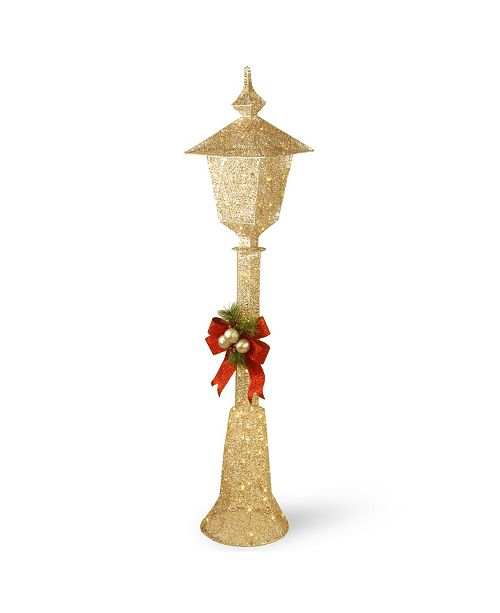"""National Tree Company 60"""" Pre-Lit Crystal Champagne Lamppost"""