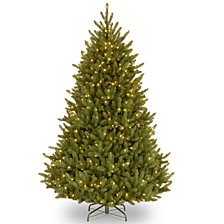 National Tree 6 .5' Natural Fraser Medium Fir Hinged Tree with 650 Clear Lights