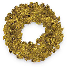 "National Tree 24"" Champagne Tinsel Wreath"