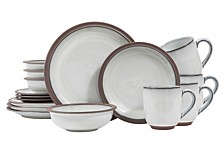 Eterra White 16-Piece Dinnerware Set