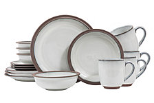 Sango Eterra White 16-Piece Dinnerware Set