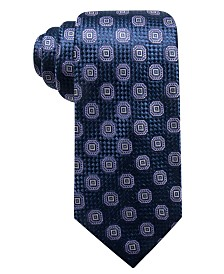 Tasso Elba Men's Octagon Medallion Silk Tie, Created for Macy's