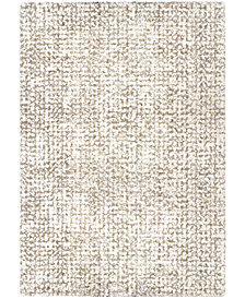 "Orian Cotton Tail Ditto White 6'7"" x 9'8"" Area Rug"