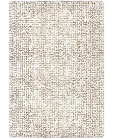 "Jennifer Adams  Cotton Tail Ditto White 6'7"" x 9'8"" Area Rug"