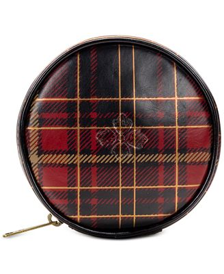 Patricia Nash Tartan Plaid Diamante Coin Case