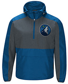 G-III Sports Men's Minnesota Timberwolves Leadoff Lightweight Half-Zip Jacket