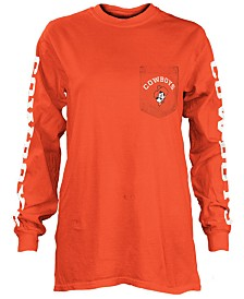 Pressbox Women's Oklahoma State Cowboys Long Sleeve Pocket T-Shirt