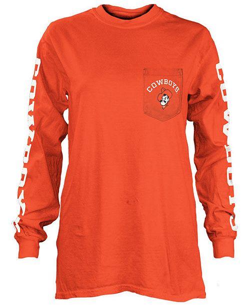 Pressbox Women's Oklahoma State Cowboys Long Sleeve Pocket T-Shirt