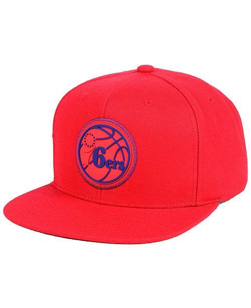 promo code c0710 1147d ... Snapback Cap  Mitchell   Ness Philadelphia 76ers Zig Zag Snapback ...