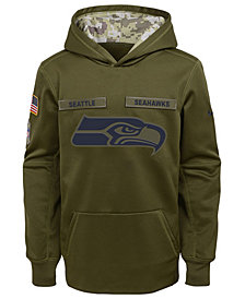 Nike Seattle Seahawks Salute To Service Therma Hoodie, Big Boys (8-20)