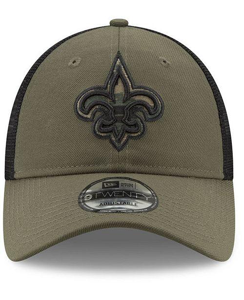 ... New Era New Orleans Saints Camo Service Patch 9TWENTY Trucker Cap ... 2c7a45c5b
