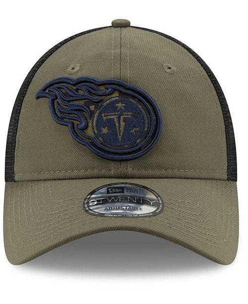c659768535b91 ... buy new era tennessee titans camo service patch 9twenty trucker cap  sports fan shop by lids