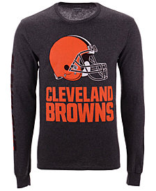 Authentic NFL Apparel Men's Cleveland Browns Streak Route Long Sleeve T-Shirt