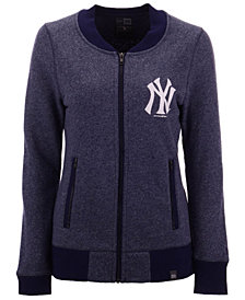 New Era Women's New York Yankees French Terry Full-Zip Jacket