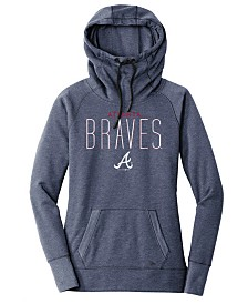 New Era Women's Atlanta Braves Triblend Fleece Hooded Sweatshirt
