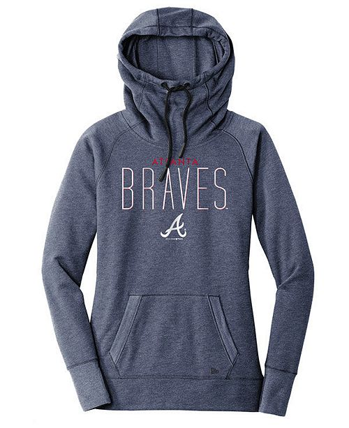 designer fashion 3e2ab bc6aa Women's Atlanta Braves Triblend Fleece Hooded Sweatshirt