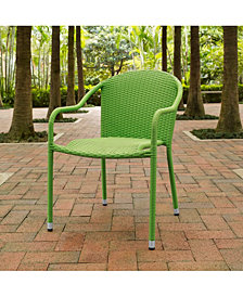 Palm Harbor Outdoor Wicker Stackable Chairs - Set Of 4