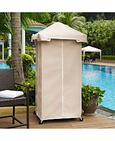 Palm Harbor Outdoor Wicker Towel Valet With Sand Cover
