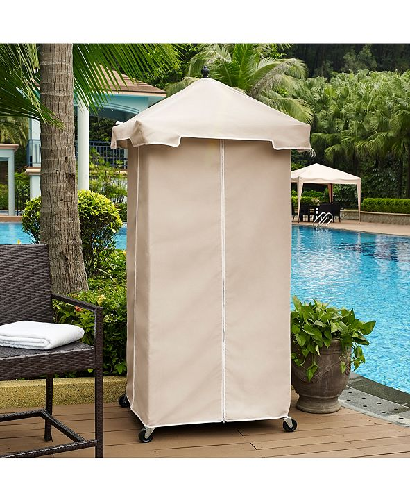 Crosley Palm Harbor Outdoor Wicker Towel Valet With Sand Cover