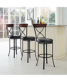 Pruitt Swivel Bar Stool With Cushion