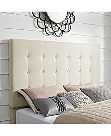 Reston Square Upholstered Full And Queen Headboard In Linen