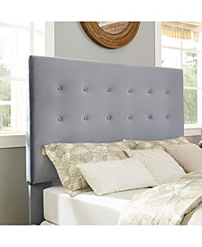 Reston Square Upholstered King And Cal King Headboard Microfiber