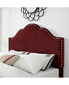 Preston Camelback Upholstered Full And Queen Headboard In Microfiber