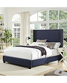 Casey Wingback Upholstered Queen Bedset