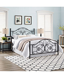 Evelyn Queen Metal Headboard And Footboard