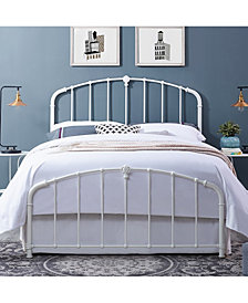 Hazel Queen Metal Headboard And Footboard