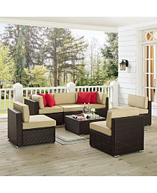 Sea Island 7 Piece Wicker Conversational Set