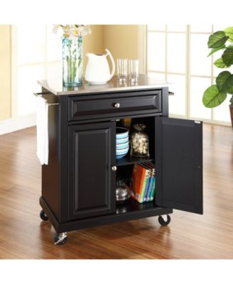... Crosley Stainless Steel Top Portable Kitchen Cart Island ...