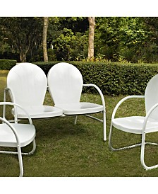 Griffith 3 Piece Metal Outdoor Conversation Seating Set - Loveseat And 2 Chairs