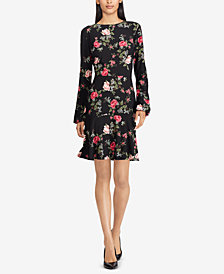 American Living Floral-Print Drop-Waist Dress