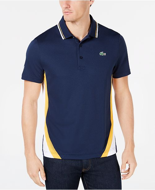 5378fd039 ... Colorblocked Polo  Lacoste Men s Regular-Fit Ultra Dry Colorblocked ...