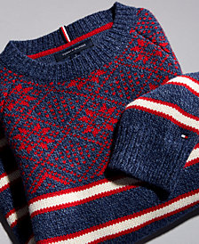 Tommy Hilfiger Men's Fair Isle Stripe Sweater, Created for Macy's