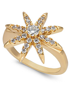 Charter Club Gold-Tone Crystal Star Ring, Created for Macy's