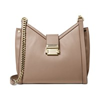 Michael Kors Whitney Polished Leather Chain Shoulder Tote (Truffle/Gold)