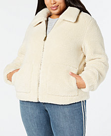 Style & Co Plus Size Teddy Jacket, Created for Macy's