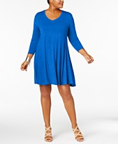 ab4ea8f0478 Style   Co Plus Size V-Neck A-Line Swing Dress