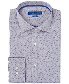 Vince Camuto Men's Slim-Fit Comfort Stretch Dobby Pattern Dress Shirt