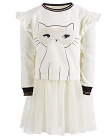 Epic Threads Little Girls Layered-Look Cat Dress, Created for Macy's