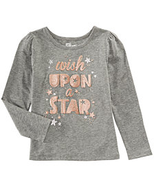 Epic Threads Little Girls Long-Sleeve Star T-Shirt, Created for Macy's
