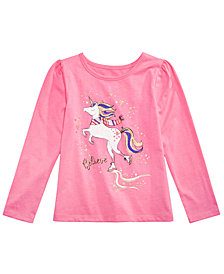 Epic Threads Little Girls Unicorn Long-Sleeve T-Shirt, Created for Macy's