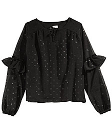 Epic Threads Big Girls Metallic Dot Top, Created for Macy's