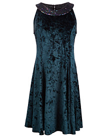 Epic Threads Big Girls Sequin Collar Fit & Flare Dress, Created for Macy's