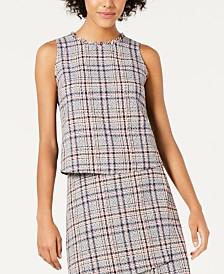 Bar III Sleeveless Tweed Top, Created for Macy's